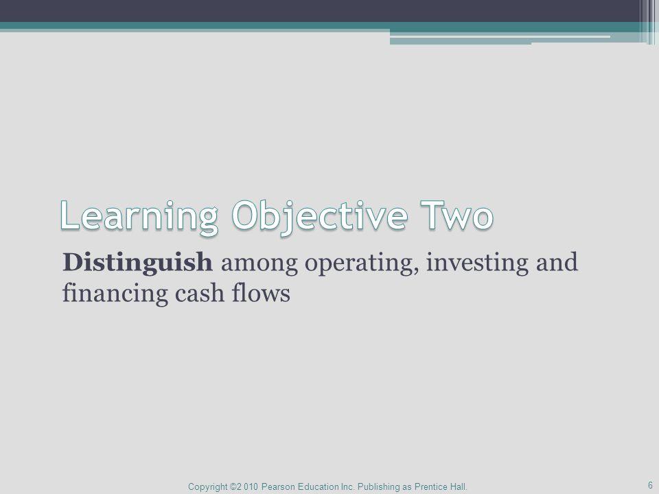 Cash Flow Categories .Create revenue, expenses, gains and losses .