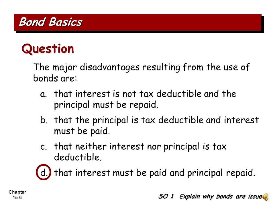 Chapter 15-5 Effects on earnings per share—stocks vs. bonds. Bond Basics SO 1 Explain why bonds are issued. Illustration 15-2