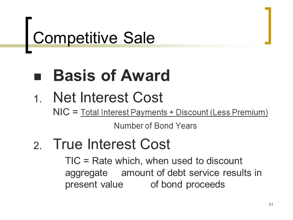 51 Competitive Sale Basis of Award 1.