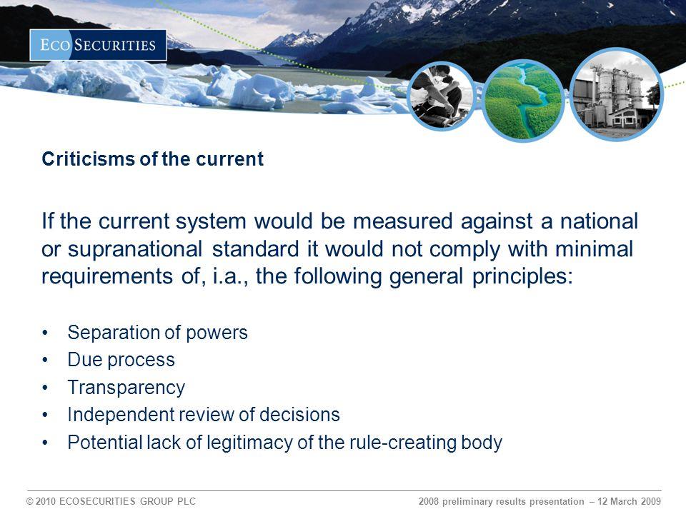 © 2010 ECOSECURITIES GROUP PLC The solution – ubi remedium, ibi ius Agenda sub-item 5 (a): Guidance by CMP 97.