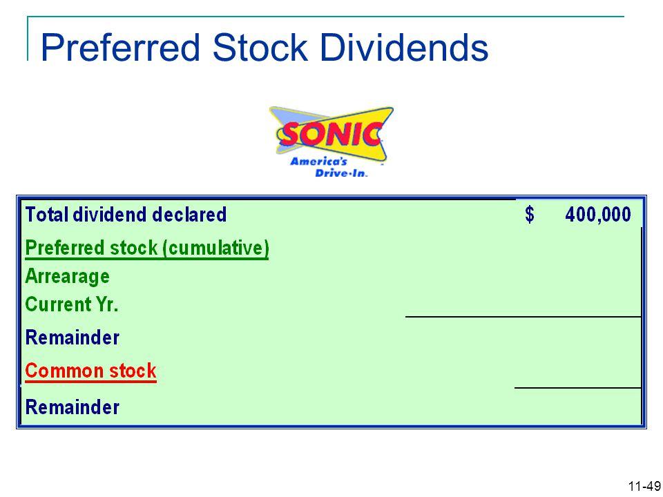 11-49 Preferred Stock Dividends