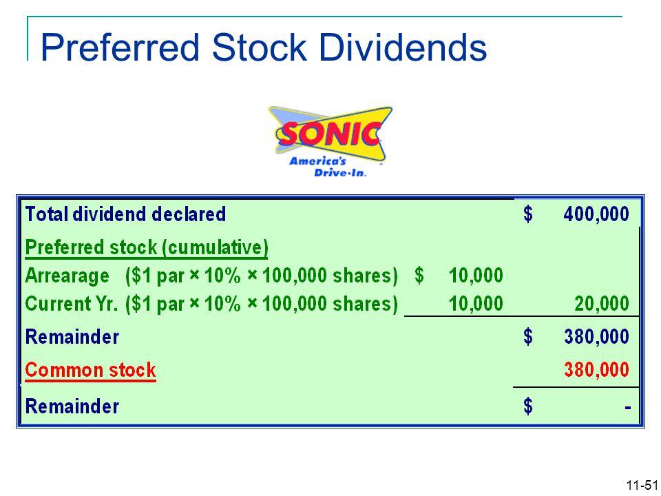 11-51 Preferred Stock Dividends