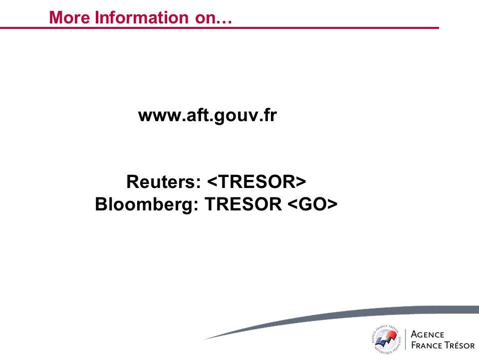 More Information on… www.aft.gouv.fr Reuters: Bloomberg: TRESOR