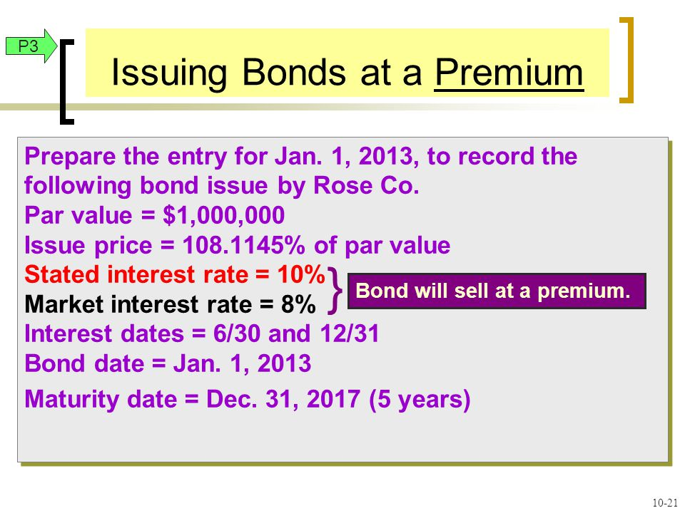 Prepare the entry for Jan. 1, 2013, to record the following bond issue by Rose Co.