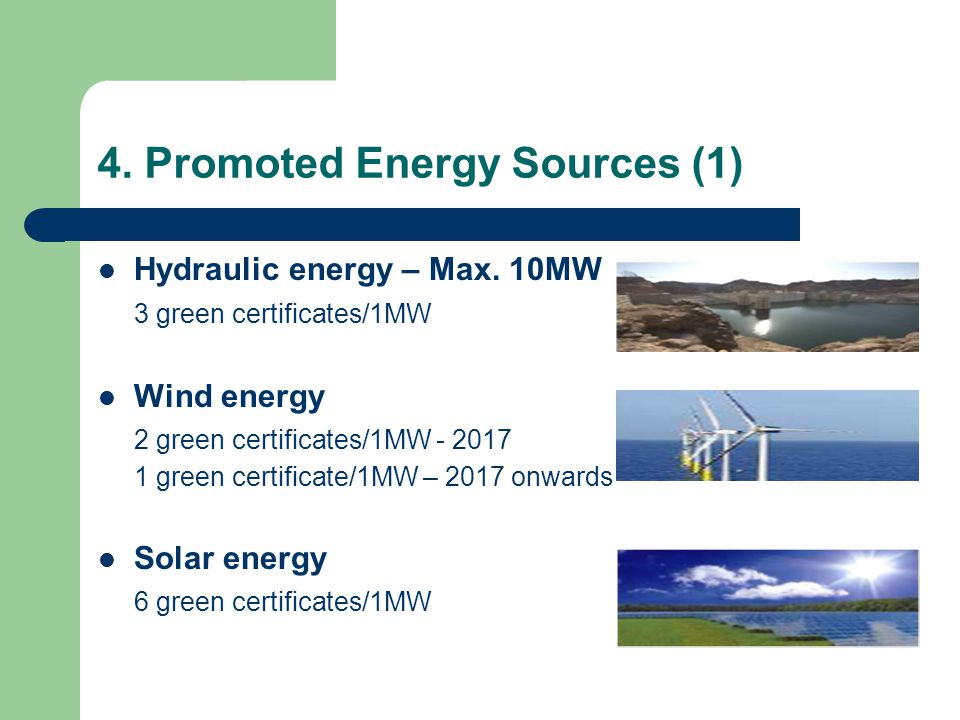 4. Promoted Energy Sources (1) Hydraulic energy – Max.
