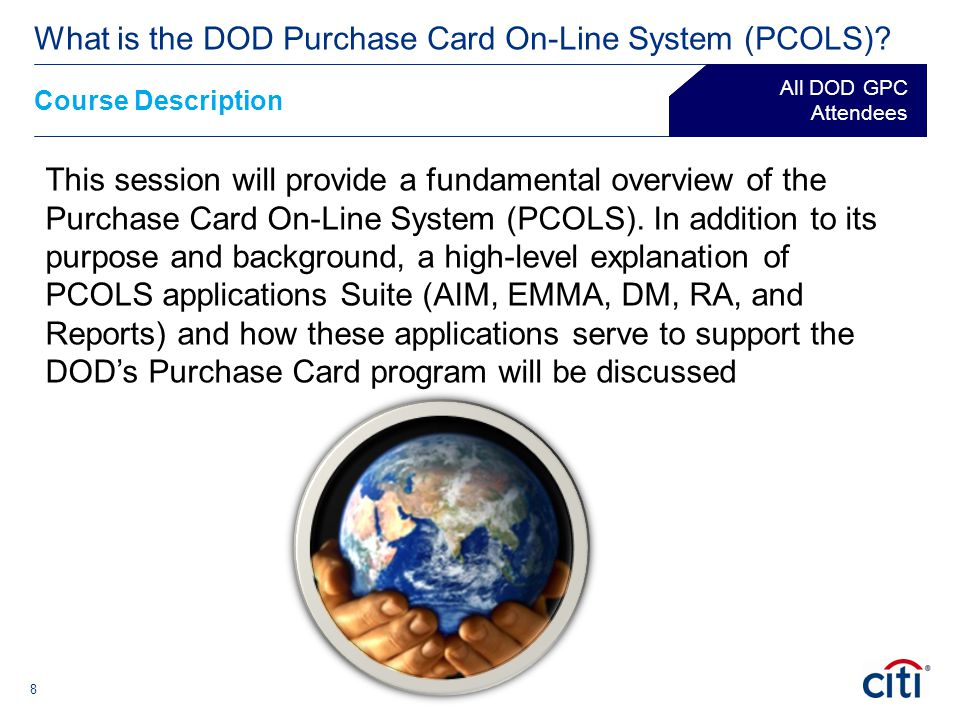 19 What is the DOD Purchase Card On-Line System (PCOLS).