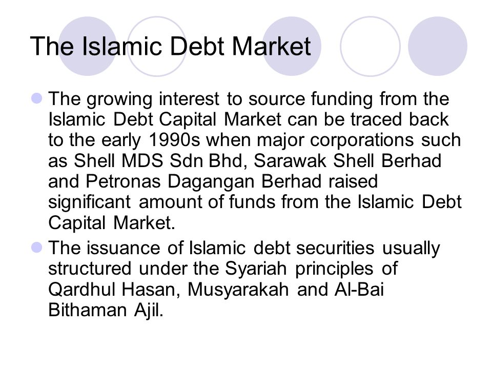 The Islamic Debt Market the Malaysian Government also issued Islamic debt instruments in the form of Government Investment Issue (formally known as Government Investment Certificates) to provide liquidity as well as to facilitate the management of assets in the Islamic Banking and Finance system The first issuance of the Government Investment Issue was carried out in 1983 upon the inception of Bank Islam Malaysia Berhad while the demand for these Islamic debt instruments increased significantly since March 1993 following the establishment of the Islamic windows and Interest Free Banking Scheme in Malaysia