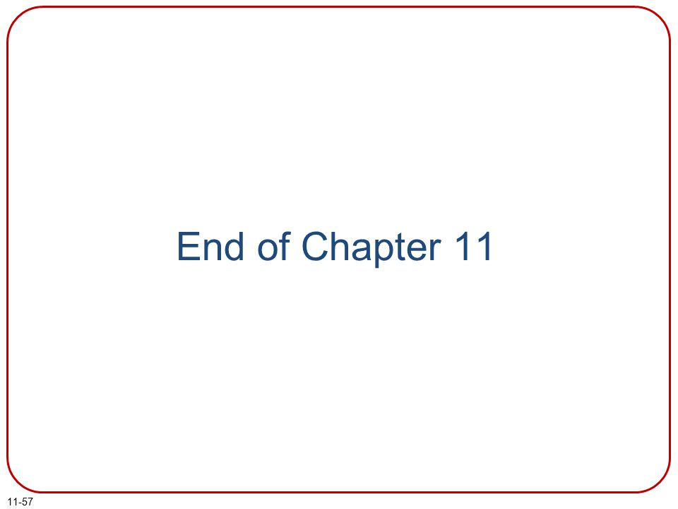 11-57 End of Chapter 11