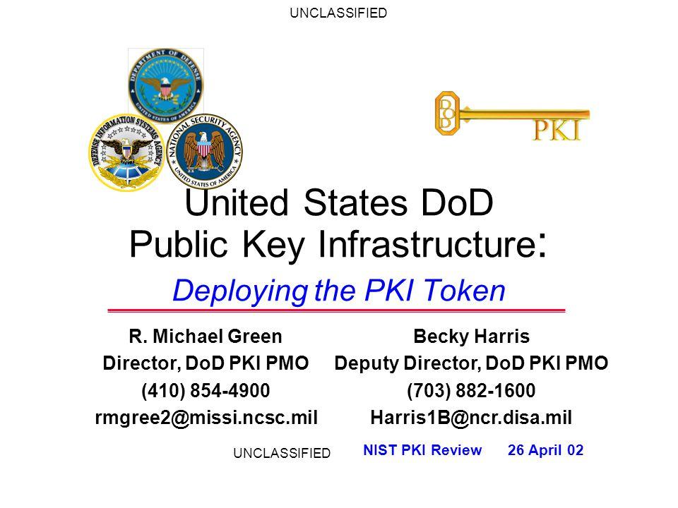 United States DoD Public Key Infrastructure : Deploying the PKI Token R.