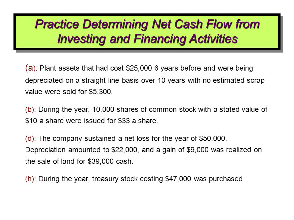(a ): Plant assets that had cost $25,000 6 years before and were being depreciated on a straight-line basis over 10 years with no estimated scrap valu