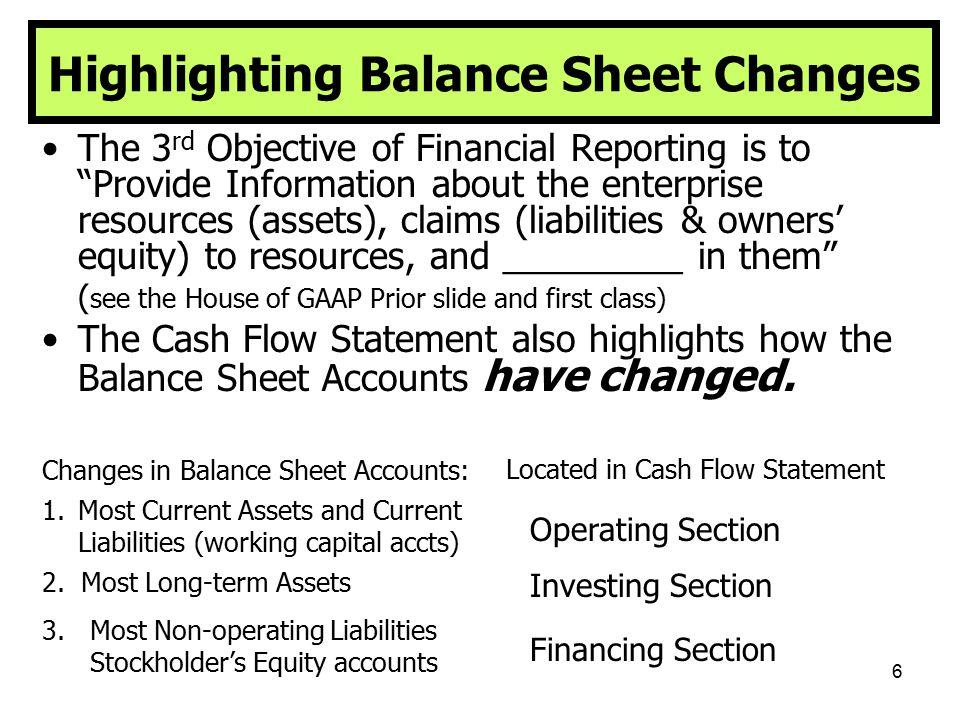 47 The Cash Flow Statement Objectives: 5.