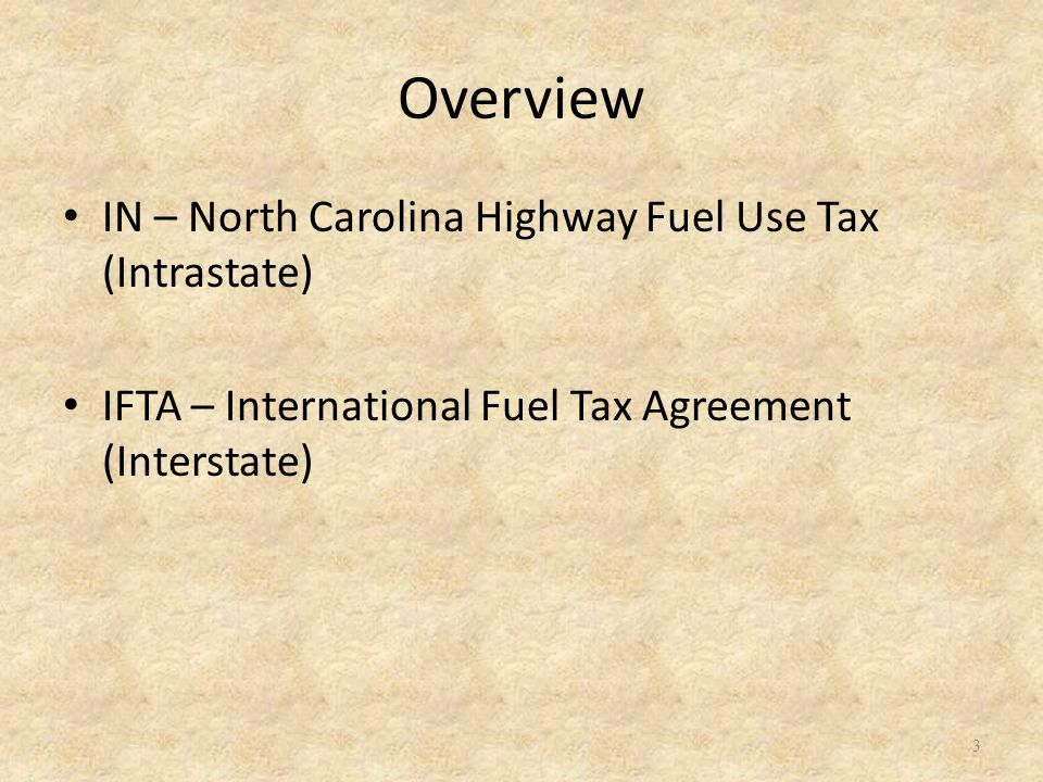 IN (Intrastate Motor Carrier) North Carolina motor carriers are required to be licensed as an Intrastate Carrier if: You have a qualified vehicle licensed with the North Carolina Division of Motor Vehicles.
