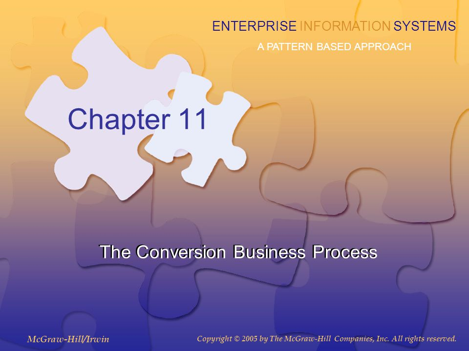 11-2 Chapter Learning Objectives 1.Identify the activities and documents common to most conversion business processes 2.Recognize the similarities and differences between various types of conversion processes 3.Explain the various components of the REA ontology in the conversion business process 4.Create a REA business process level model for an enterprise's conversion process 5.Identify common information needs within the conversion process 6.Create database queries to retrieve conversion process information from a relational database