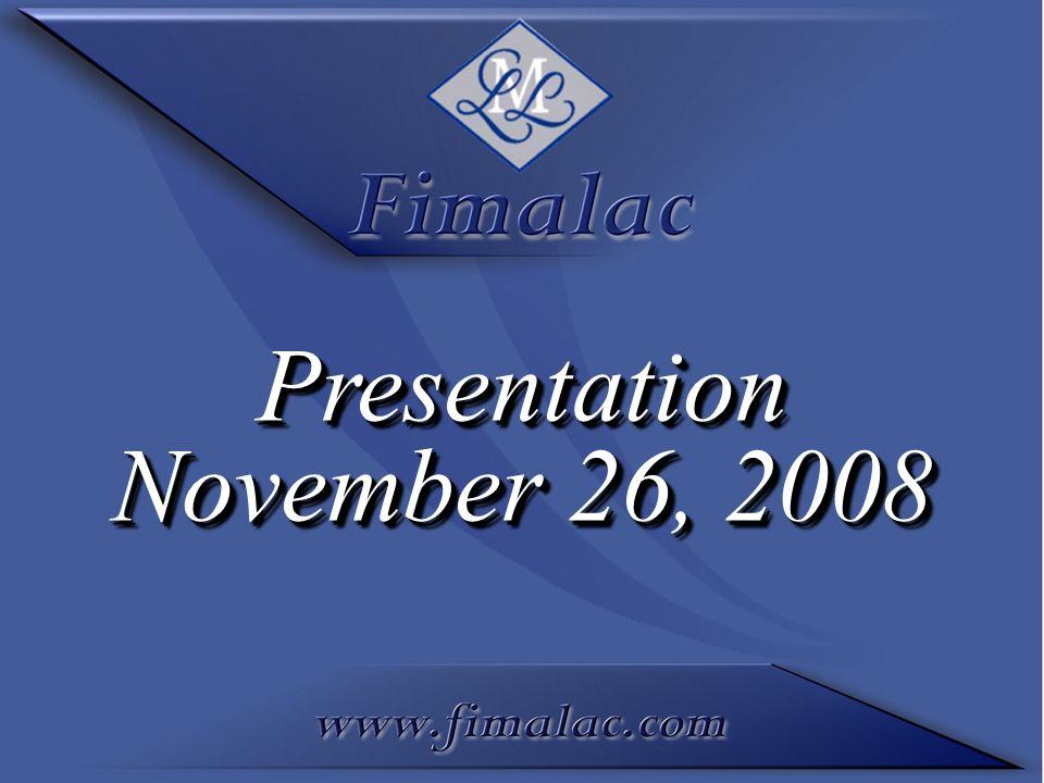 Presentation November 26, 2008 Presentation