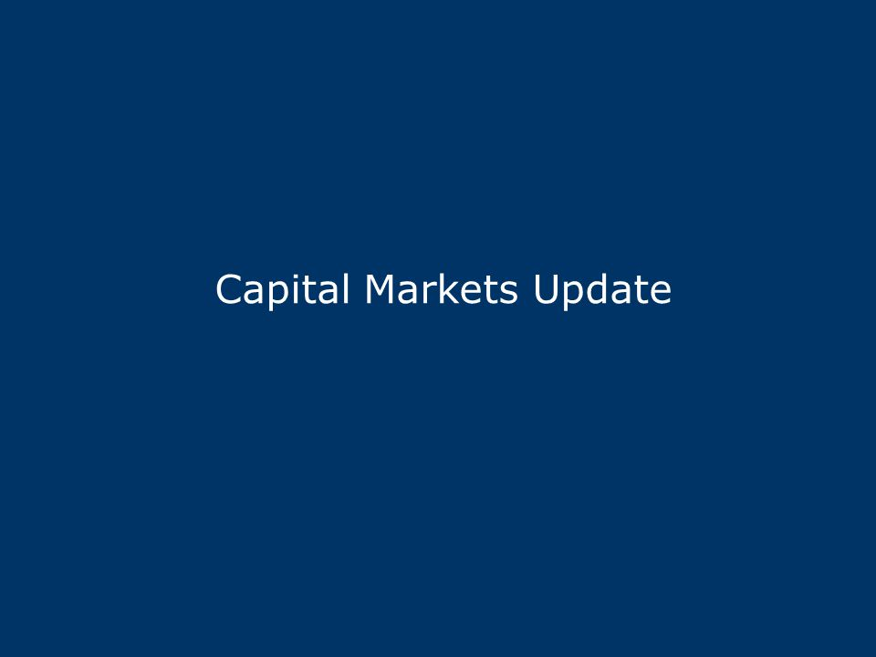 Capital Markets Update