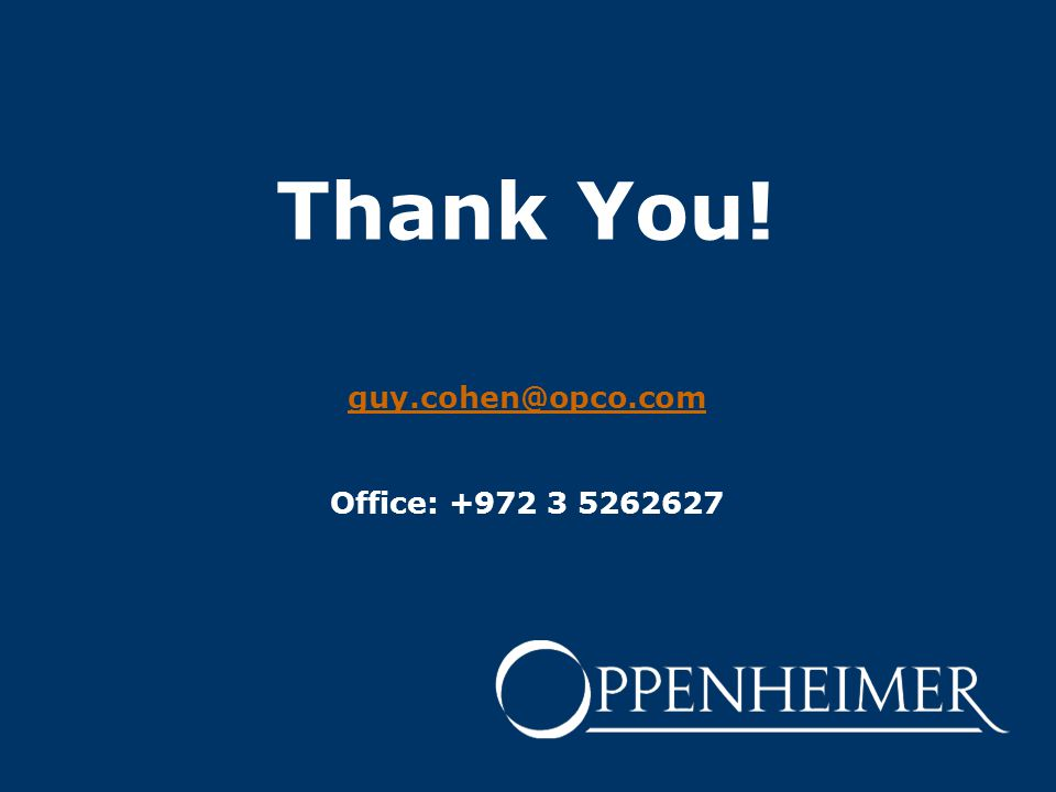 Thank You! guy.cohen@opco.com Office: +972 3 5262627