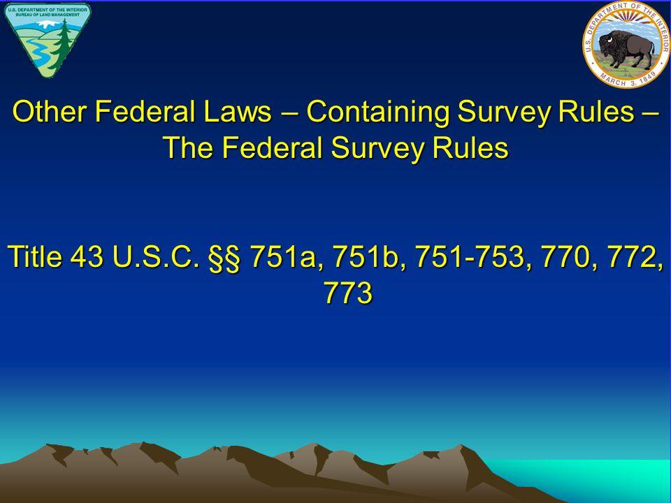 Title 43 U.S.C.