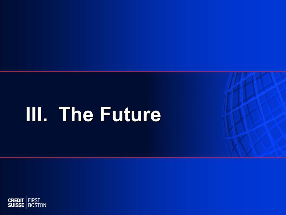 III. The Future