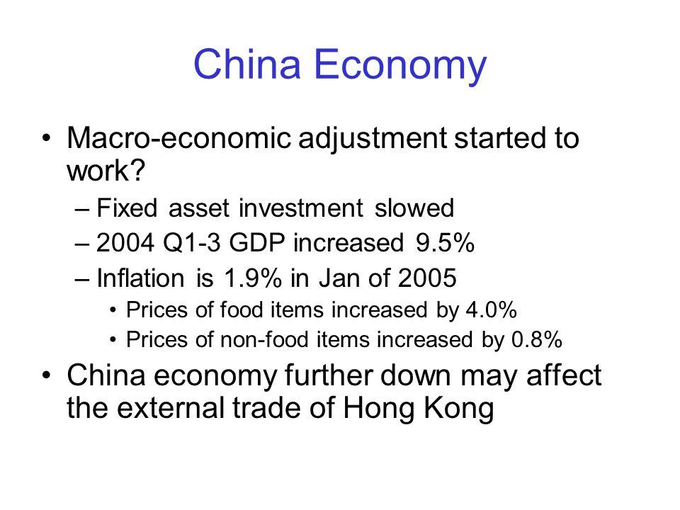 China Economy Macro-economic adjustment started to work.
