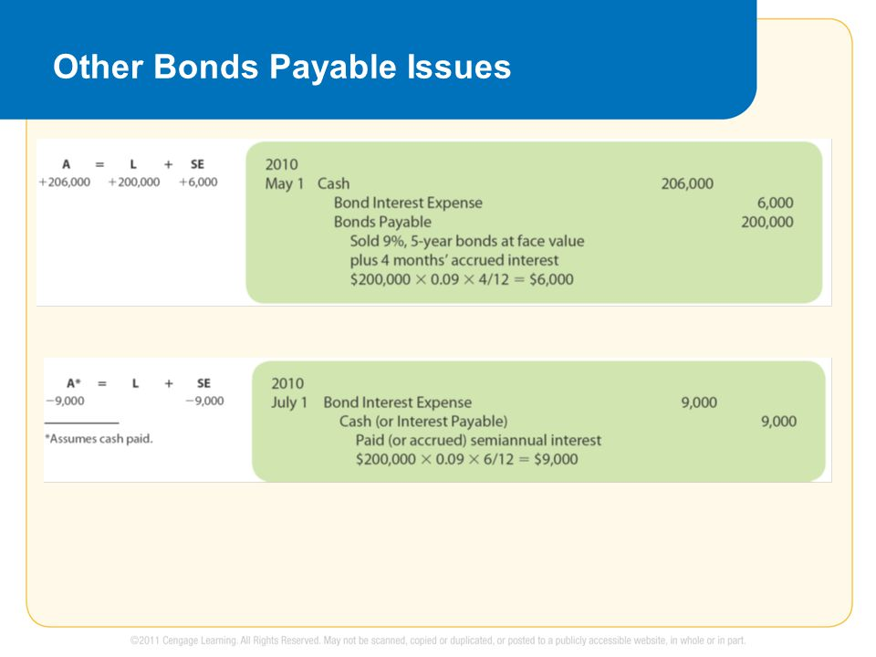 Other Bonds Payable Issues