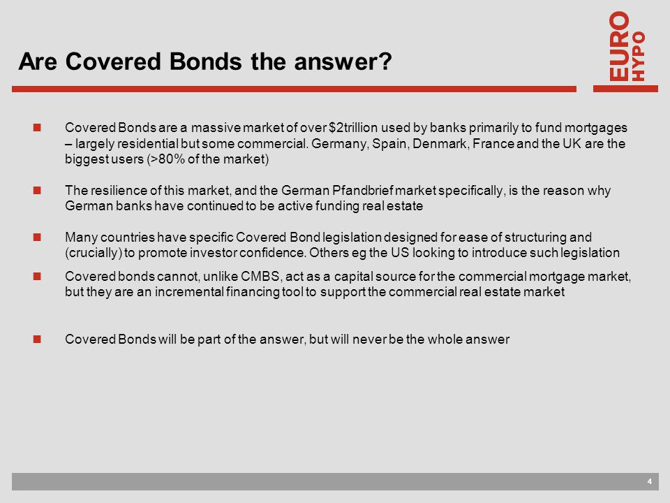 4 Are Covered Bonds the answer.