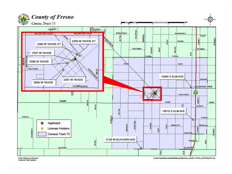 Applicant's Location- Super Mart 2307 W. Tahoe St., Caruthers, California 93609