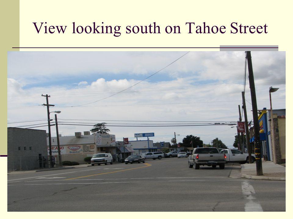 View looking south on Tahoe Street