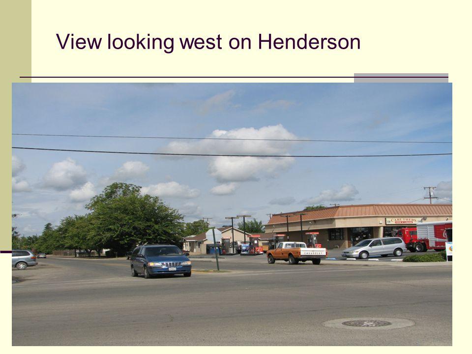 View looking east on Henderson