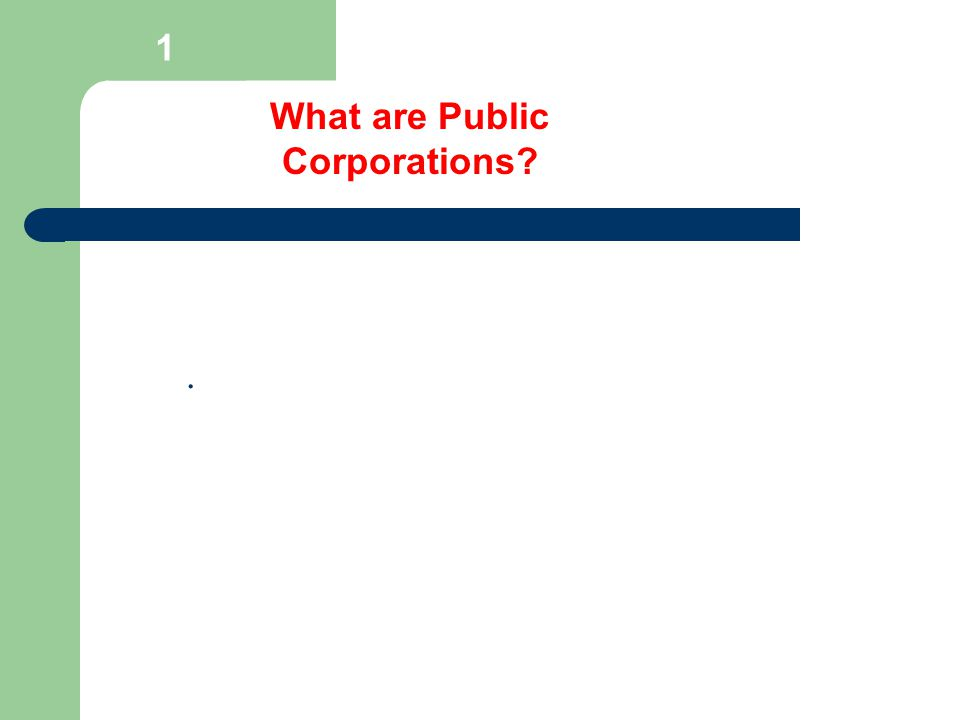 1 What are Private Corporations?