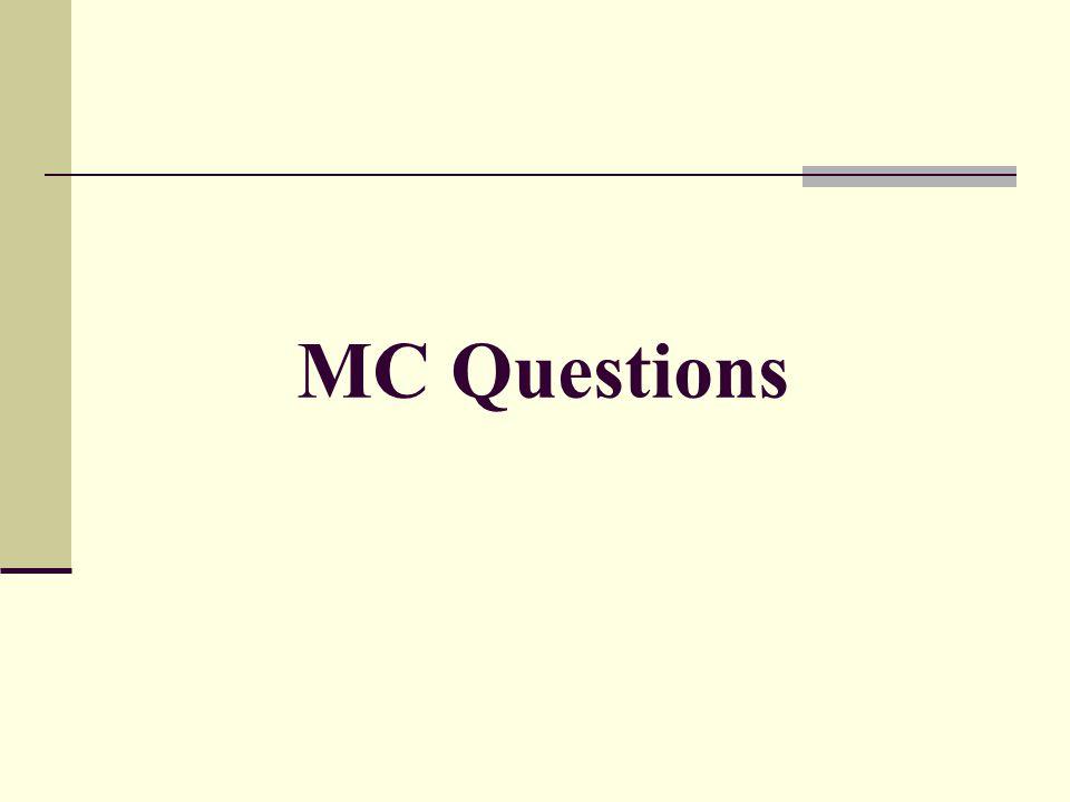 MC Questions