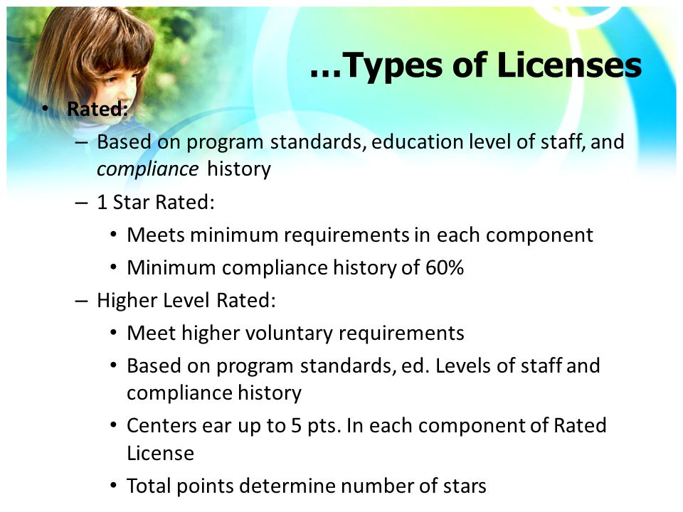 A NC General Statute allows religious- sponsored child care centers the option of being issued a license or a notice of compliance. Which means the same as this.