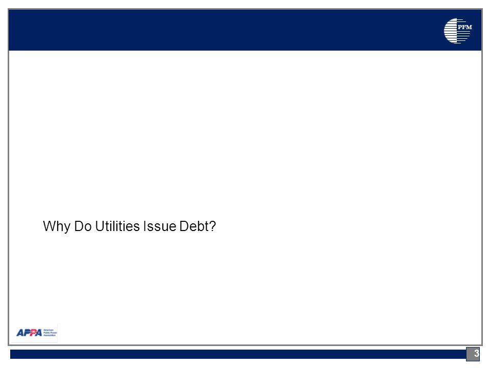 PFM Why Do Utilities Issue Debt 3