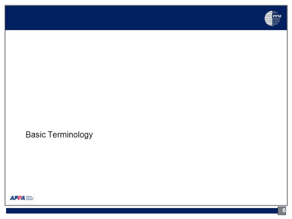 PFM Basic Terminology 6
