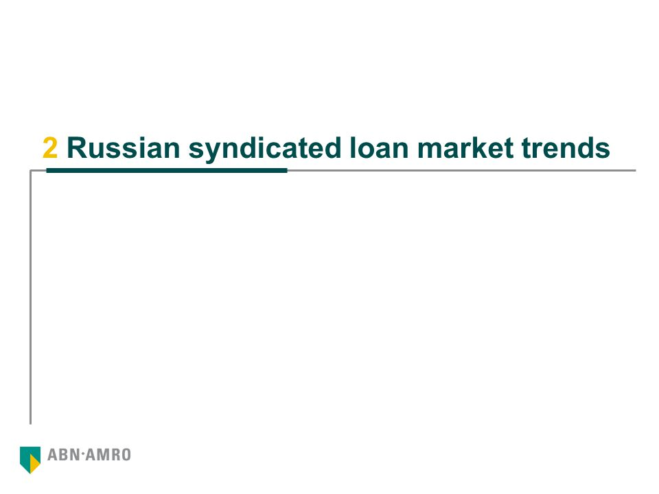 2 Russian syndicated loan market trends