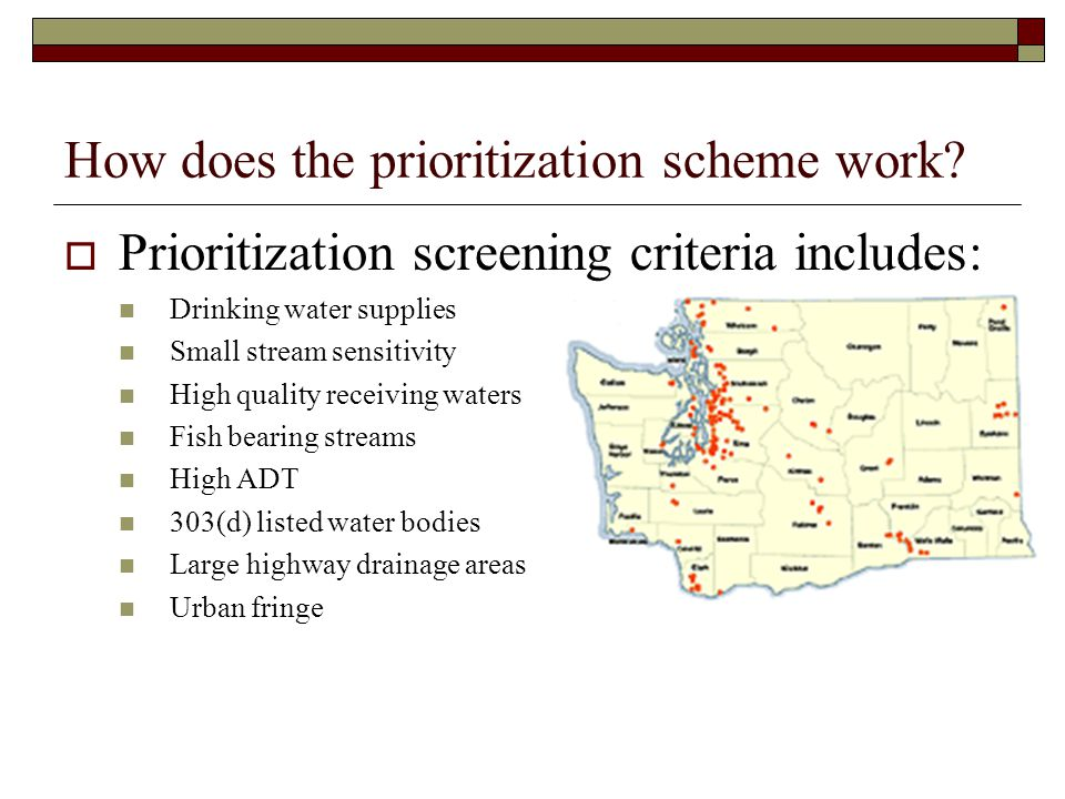 How does the prioritization scheme work.