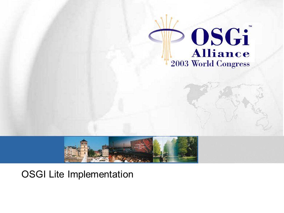 OSGI Lite Implementation