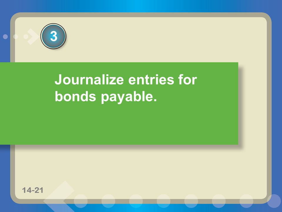11-814-8 Journalize entries for bonds payable. 3 14-21