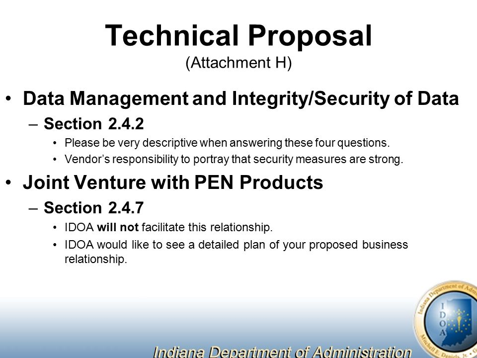 Cost Proposal (Attachment D) Respondents MUST be precise in the use of number terms.
