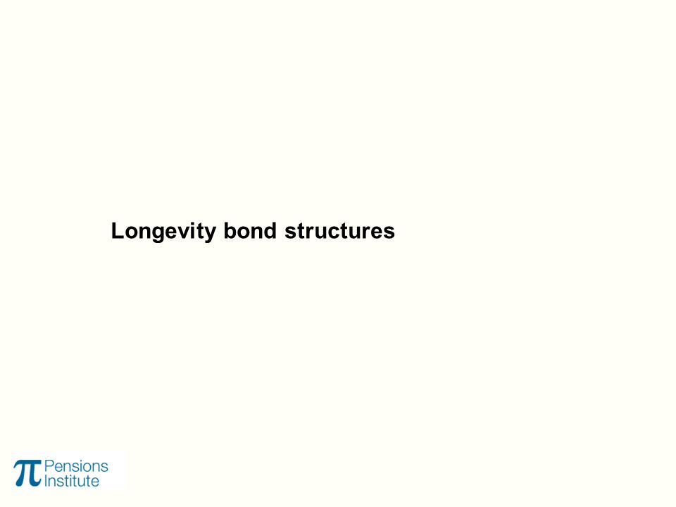 Longevity bond structures