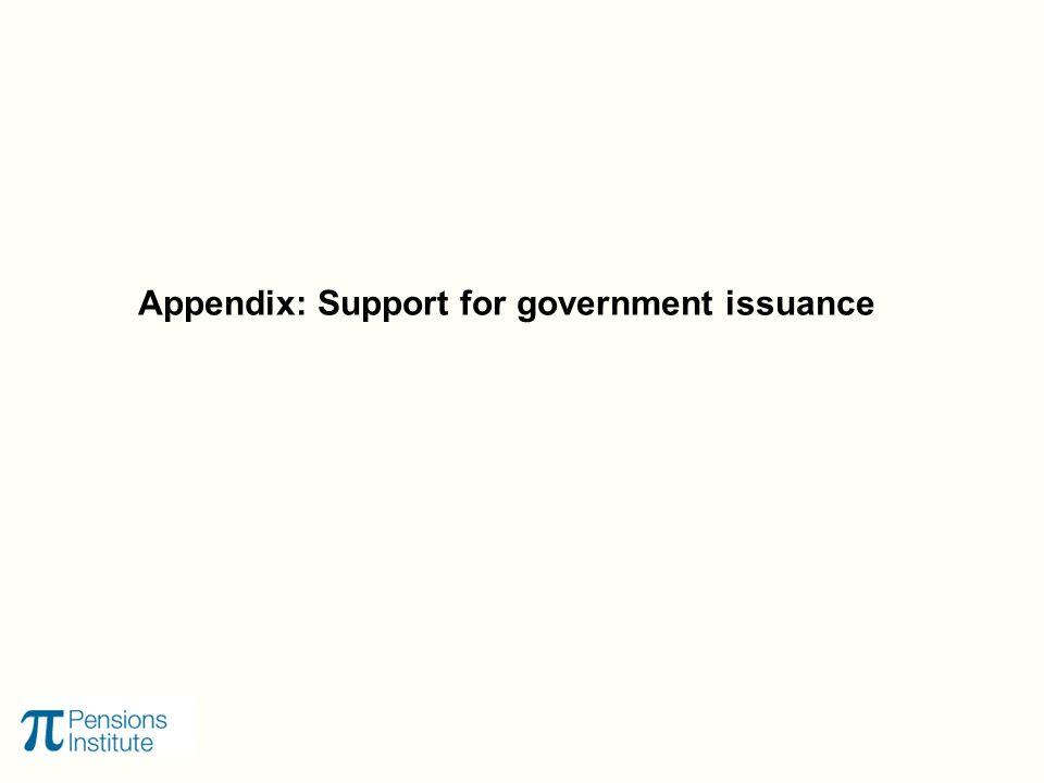Appendix: Support for government issuance