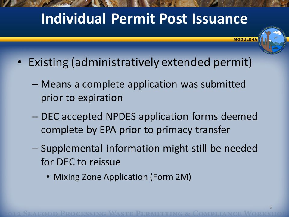 Permit Compliance/Maintenance AKG523000 Material changes to operations Modified AKG523000 NOIs must be submitted to DEC before changes in discharge/processing occur – http://dec.alaska.gov/water/wwdp/seafood/seafoodww.html http://dec.alaska.gov/water/wwdp/seafood/seafoodww.html Clearly identify changes/modifications Use OASYS to submit modified eNOI (Module 3C) or Submit scanned versions of modified AKG523000 NOIs to dec.water.wqpermit@alaska.gov and mail signed originals to Anchorage DEC Office dec.water.wqpermit@alaska.gov 17
