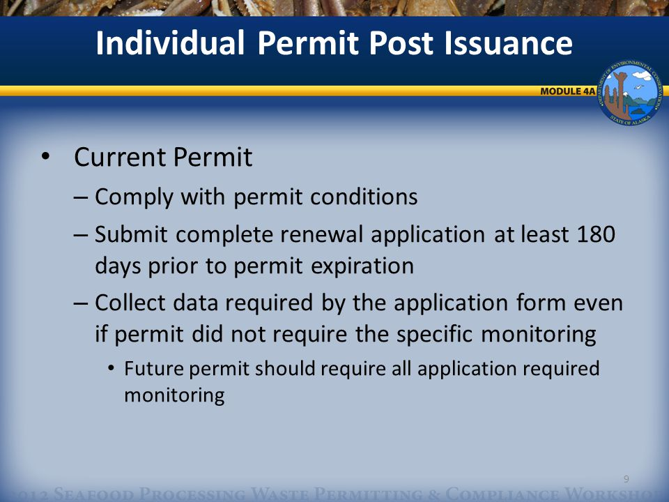 Permit Compliance/Maintenance Permit Transfers Signed by Original Permittee and New Permittee Original Permittee is Responsible until DEC accepts transfer – DEC will not unreasonably limit a transfer 20