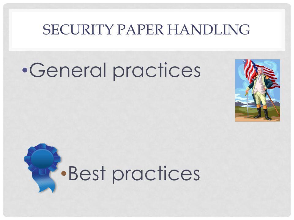 General practices Best practices