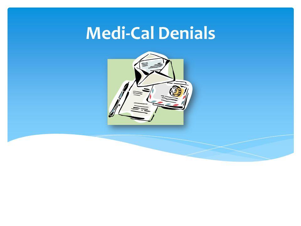 Medi-Cal Denials