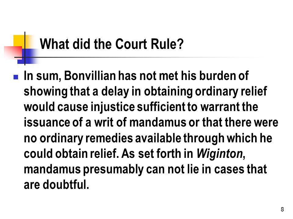Bonvillian v. Dep t of Insurance, 5 So.3d 233 (La.App. Cir.1 2008) Round II