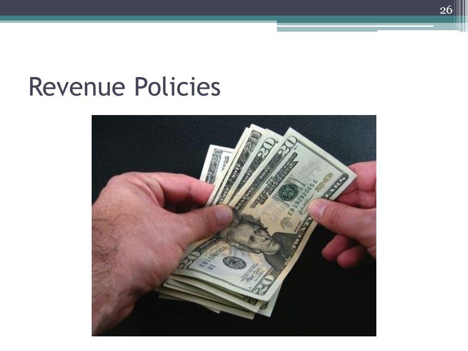 Revenue Policies 26