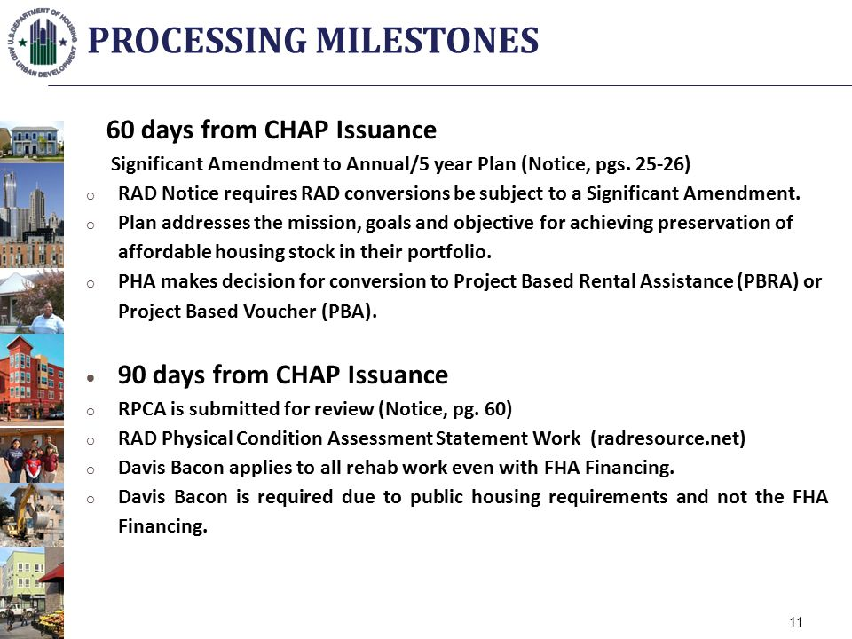 60 days from CHAP Issuance Significant Amendment to Annual/5 year Plan (Notice, pgs.
