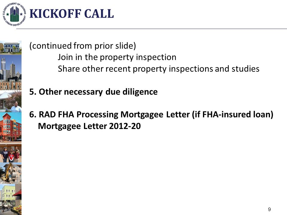 (continued from prior slide) Join in the property inspection Share other recent property inspections and studies 5.
