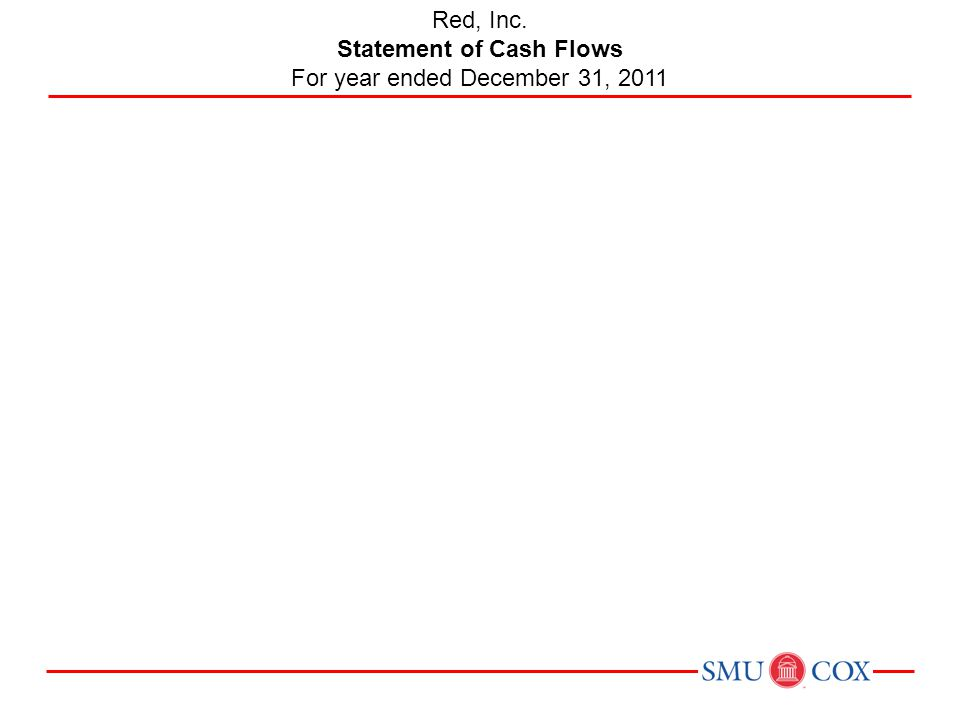 Red, Inc. Statement of Cash Flows For year ended December 31, 2011