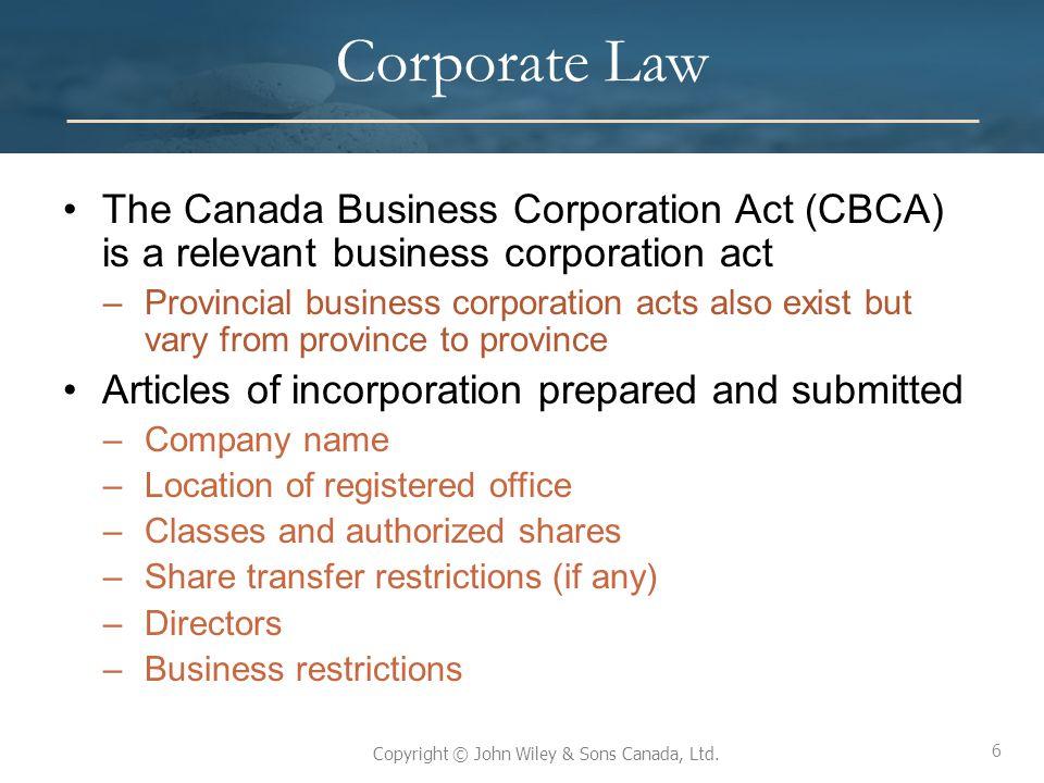 47 Copyright © John Wiley & Sons Canada, Ltd.